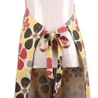 Quality Fashionable and Recycle Flower Printed Retro Ladies Cook Aprons / Cotton Bib Aprons for sale