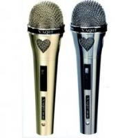 Wholesale Two in One Silver and Black Dynamic Wire Microphones Set from china suppliers
