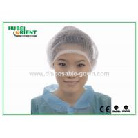 Quality Disposable Head Cap Surgical Mob Cap for Hospital / Health Center for sale
