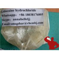 Wholesale White Crystalline Raw Powder Local Anesthetic Drugs Lidocaine Hydrochloride HCL 73-78-9 from china suppliers