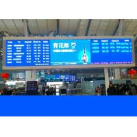 Buy cheap Led Railway Signs And Train Station Displays With Crystal Clear Led Boards from wholesalers