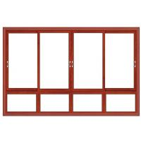 Wholesale Float Glass Double Interior Aluminium Sliding Windows Waterproof Red Cherry Color from china suppliers