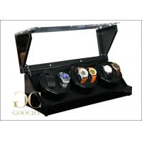 Wholesale Leather Automatic Triple Watch Winder Box With Acrylic Lid Suede Interior from china suppliers