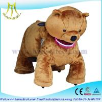 Wholesale Hansel happy animals ride plush animals motorized stuffed animals with wheels from china suppliers