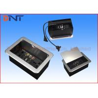 Wholesale Office Slip Up Cover Table Cable Cubby With HDMI , USB , VGA Ports from china suppliers