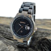 Wholesale Custom Black Sandalwood Womens Wooden Watches With 12 Months Warranty from china suppliers
