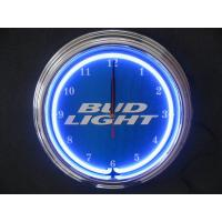 Wholesale Promotional Gift Quartz Neon Light Wall Clock Aluminium Frame Glass Surface from china suppliers