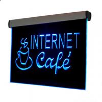 Wholesale 500x300mm silver aluminum frame colorful led edge lit sign from china suppliers