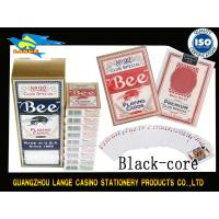 Wholesale Custom Casino Standard BEE Playing Cards With Black Or Blue Core / Texas Poker from china suppliers
