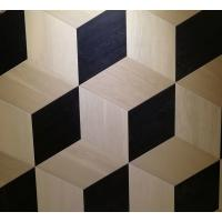 Buy cheap oak parquet tiles, artistic parquets, black & white stained, 3D showing from wholesalers