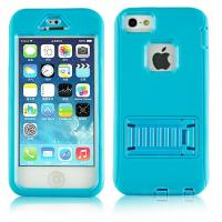 Wholesale Blue Cell Phone Cases Defender Shockproof Cover Shell Stand Holder For iphone 5s from china suppliers