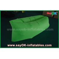 Wholesale Green Nylon Ripstop Fabric Inflatable Sleeping Bag / Air Sofa For Adults CE from china suppliers