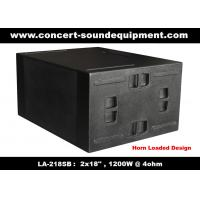 "Wholesale Line Array Sound System / 2x18"" Horn Loaded 4ohm 1200W Subwoofer For Concert And Living Event from china suppliers"