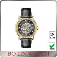 Wholesale Beautiful Elegant Ladies / Mens Diamond Watches , Customised Automatic Mechanical Watch from china suppliers