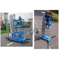 Quality Aluminium Alloy Hydraulic Single Mast Lift Platforms 6m Platform Height for sale