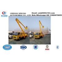 Buy cheap 2018s new best price dongfeng 14m aerial working platform truck for sale, wholesale cheaper overhead working truck from wholesalers