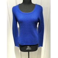 Wholesale Royal Blue Cashmere Sweater For Ladies , Cashmere Pullover Sweater 2/28nm Yarn Count from china suppliers