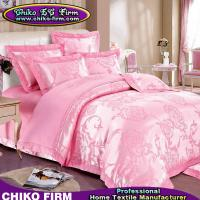 Wholesale Pure Cotton King Size Pink Flower Jacquard Wedding Bedding Sets from china suppliers