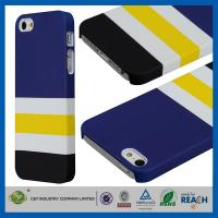 Blue White Stripe Cellphone Cases , Iphone 5 5s Mobile Phone Protective Covers