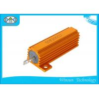 China 50W 0.01 ohm-33K ohm High Power Wire Wound Power Resistor Gold Aluminum Housed on sale