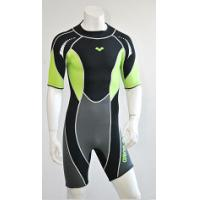 Wholesale Neoprene Surf Suit 3mm SCR Material Laminate Black & Green nylon from china suppliers