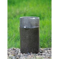 Wholesale Cylinder Shaped Cast Stone Garden Fountains / Large Outdoor Fountains from china suppliers