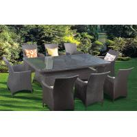 Wholesale PE rattan furniture, garden furniture, dining table chair, glass table, #1205 from china suppliers