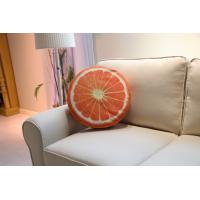 Wholesale Funky Outdoor Textiles Chair / Sofa Pillows Cushion Orange Printed 60cm * 15cm from china suppliers
