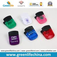 Buy cheap Plastic Stationery Magnetic Clip W/Black Rubber Handle in Transulcent Colors from wholesalers