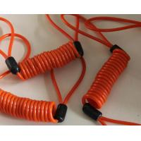 Wholesale 15mm coil dia big spiral orange spring stretchy coil safety tool strap rope w/loops on end from china suppliers