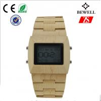 Wholesale Bewell Natural Wood Bamboo Wrist Watch Water Resistant 12 Months Warranty from china suppliers