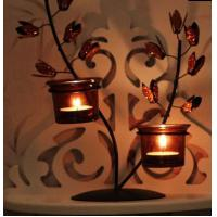 Quality European rural life decoration Wrought iron candlestick for sale