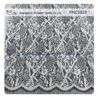Wholesale Cord Lace Fabric Eyelash repeat Cotton&Nylon Fabric of Wave Line from china suppliers