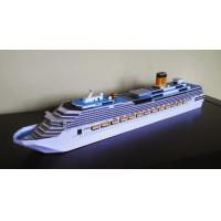 Wholesale Creative  Plastic Cruise Ship Models , Costa Pacifica Cruise Ship Boat Replica Models from china suppliers