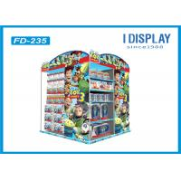 Wholesale Floor Four Tiered Display Shelves , Retail Cardboard Displays Stand For Cartoon Toys from china suppliers