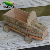 Wholesale Wooden Car Shaped Flower Planter for Garden from china suppliers
