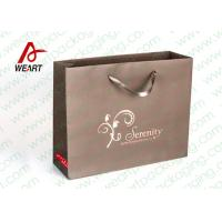 Wholesale Brown Custom Paper Shopping Bags With Bottom Cardboard Satin Ribbon from china suppliers