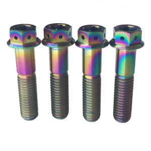 M10 x 35,40,45,55,60,65,70,75,80mm 1.25 Pitch Titanium/Ti Flange Hex Head Bolt