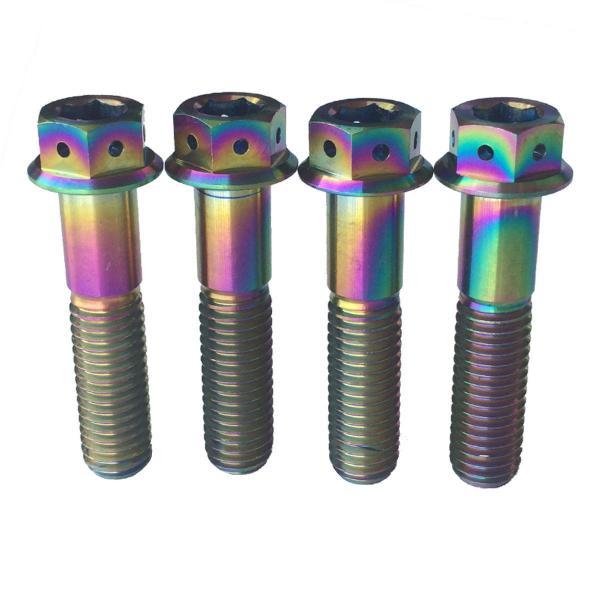 Quality M10 x 35,40,45,55,60,65,70,75,80mm 1.25 Pitch Titanium/Ti Flange Hex Head Bolt for sale