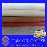Abrasion Resistant Sofa Synthetic Leather 0.85mm Pvc Leather Upholstery Fabric