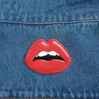 Wholesale super September offer Fashion Design Custom 3D Embossed Flaming Lip Shape Soft Rubber PVC Patch with Adhesive Backing from china suppliers