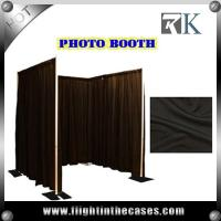 pipe and drape round photo booth equipment custom made photo booth