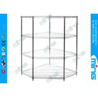 Wholesale Bulk Storage 3 Tiers Mobile Wire Shelving Corner Units with Three Shelves from china suppliers