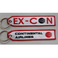 Wholesale Continental Airlines Embroidered Key Ring Banner from china suppliers