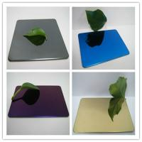 Wholesale 304 mirror color stainless steel sheet with colors ROSE, GOLD, BLACK, GREEN,BRONZE from china suppliers