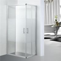 Quality Stripe Pattern Bathroom Shower Enclosure adjustment 25mm for each side for sale