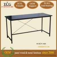 Wholesale modern designed iron frame computer desk for two computers from china suppliers