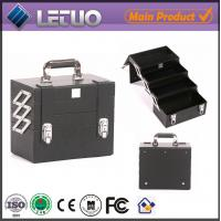 Wholesale LT-MC050 Black Compact case beauty makeup cosmetic aluminum case makeup case empty from china suppliers