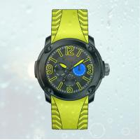 Wholesale Fashion Men's  Silicone  Strap  Stainless steel wrist Watches with 6 watch hands from china suppliers