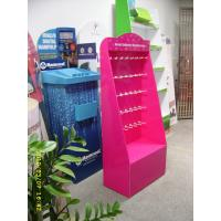 Wholesale POS Pink color pegboard jewelry display with hooks Free Standing from china suppliers